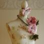 Blumenschal aus Filz