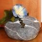 Türstopper Stein mit Blüte gefilzt
