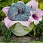 Blütenwollkorb aus Filz