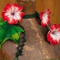 Blütenkette mit Blatt handgefilzt