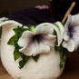 Wollkorb mit Blüten aus Filz