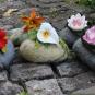 Türstopper mit Blüten
