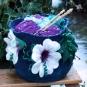 Gefilzter Wollkorb Winterblume