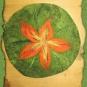 Sitzkissen mit Blüte 2