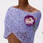 Lavendelschal mit Blüte