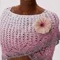 Schal mit Blüte