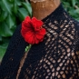 Schal mit Mohnblüte
