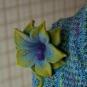 Filzblüte passend zu Stricktuch