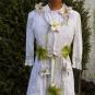 Blütendekoration auf Kleid 1