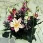 Filzblüte in echtem Strauß 2