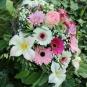 Strauß mit Filzblüten und echten Blumen 2