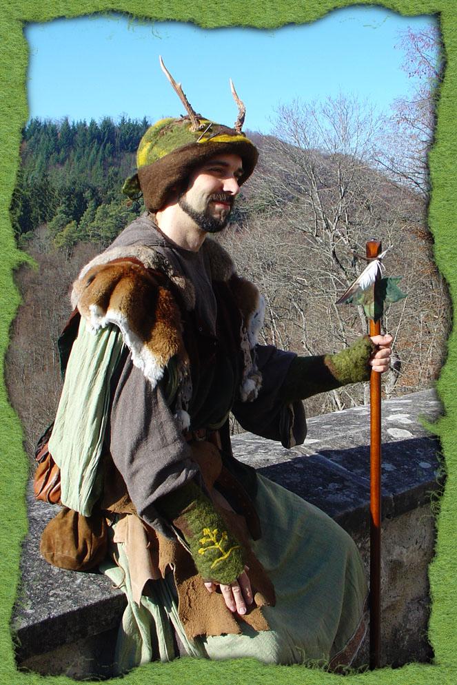 Geweihten-Druiden-Hut mit Geweih