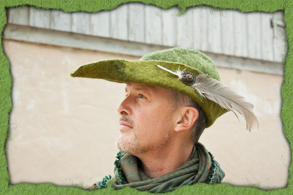 Grüner Jagdhut aus Filz