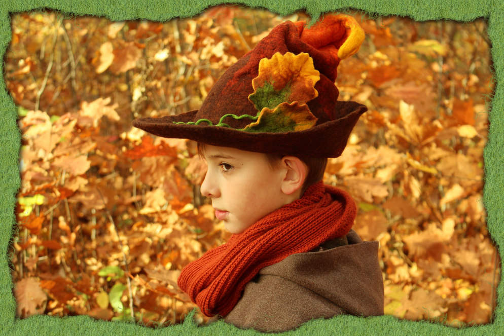 Herbstlaubfilzhut