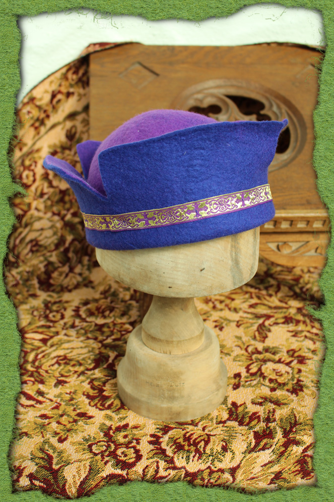 Blauer Mailänder-Hut