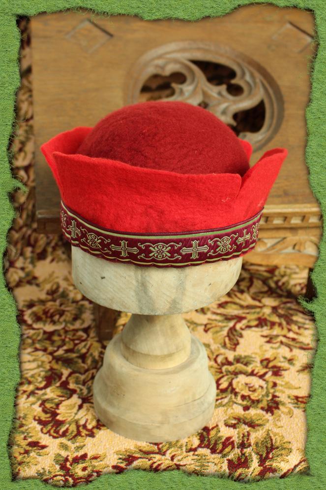 Roter Mailänder-Hut
