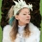 Schneeköniginnenkrone aus Filz