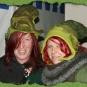 Zwei grüne Elfenfilzhüte