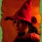 Roter Hexenhut aus Filz