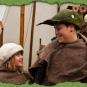 Weisse Filzkappe und Jagdhut aus Filz