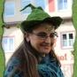 Schnittiger grüner Filzzauberhut 2