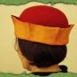 Hut Codex Manesse rot-gelb