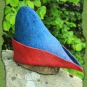Bycocket aus Filz in rot und blau