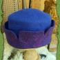 Zinnenhut in violett und blau 2