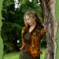 Filzweste in Herbsttönen