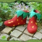 Gefilzte Erdbeerschuhe