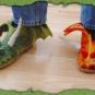 Drachenschuhe aus Filz
