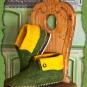 Hüttenschuhe grün-gelb