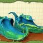 Blaue Elfen-Filzschuhe