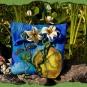 Wasserlilien-Filztasche mit Libelle