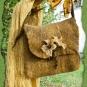 Gelbe Tasche mit Blüten