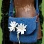 Blaue Edelweiß-Tasche