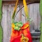 Gelbe Rose - Rote Tasche
